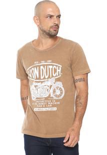Camiseta Von Dutch Rgd Caramelo
