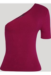 Blusa Feminina One Shoulder Um Ombro Só Pink