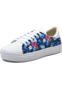 Dafiti. Tênis Casual Feminino Com Estampa Floral Atron Shoes Branco 819260637b0c1