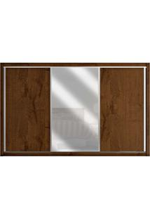 Guarda-Roupa 3 Portas De Correr Toronto 100% Mdf 1 Porta Com Espelho Brauna - Móveis Europa