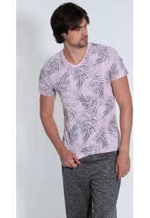 Camiseta Masculina Km Folhagem