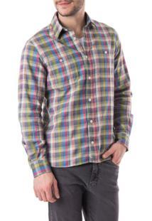 Camisa Oriba Flanela Multicolorido