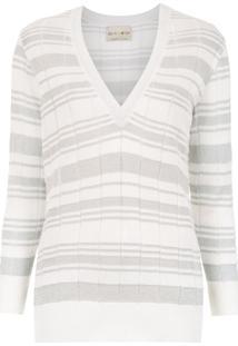 Andrea Bogosian Blusa De Tricô Listrada - Branco