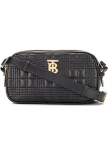 Burberry Mini Quilted-Effect Cross Body Bag - Preto