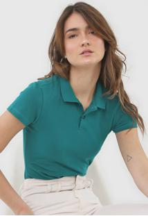 Camisa Polo Malwee Lisa Verde - Verde - Feminino - Algodã£O - Dafiti