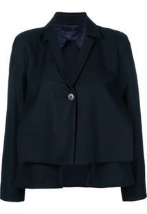 Henrik Vibskov Blazer Cropped Com Sobreposição - Azul