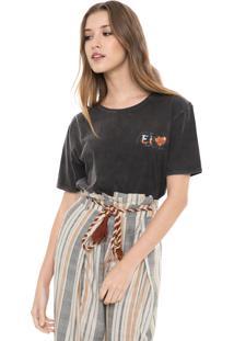Camiseta Dress To Estampada Grafite