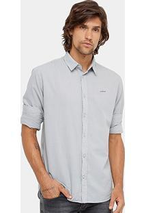 Camisa Social Colcci Manga Longa Gola Polo Masculina - Masculino
