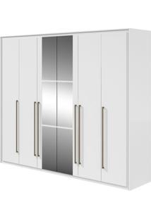 Guarda-Roupa Reali New Com Espelho - 100% Mdf - 6 Portas - Branco