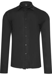 Camisa Masculina Rustic Linen - Preto