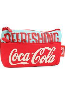 Necessaire Coca-Cola Retrô - Feminino-Vermelho