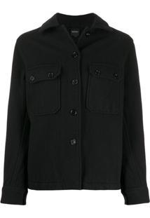 Aspesi Button-Up Shirt Jacket - Preto