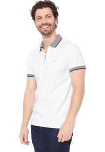 Camisa Polo Aramis Slim Zíper Branca
