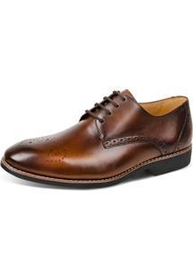 Sapato Linha Premium Derby Sandro Moscoloni 16680 Marrom Escuro