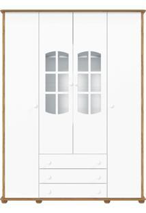 Guarda-Roupa 4 Portas Mamma Branco E Teka Matic Móveis