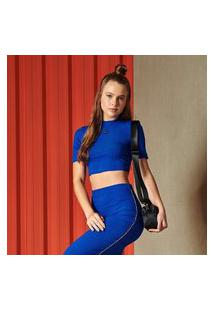 Blusa Canelada Colcci - Azul Ultra Blue