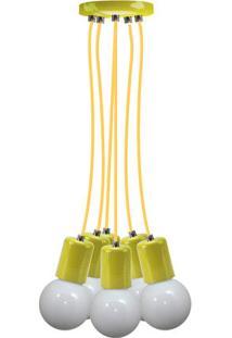 Pendente Uno Colors Multi Cromalux Amarelo