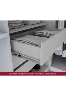 Módulo Para Closet Canto 2 Portas Iluminação Interna Exclusive Henn Branco Fosco