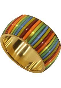 Porta Guardanapo- Pashmina- Ceramica- Dourado - Kanui