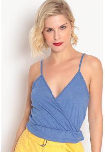 Blusa Com Elástico- Azul- Colccicolcci