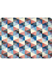 Tapete Geometric Retro- Azul Escuro & Coral- 125X90Cwevans