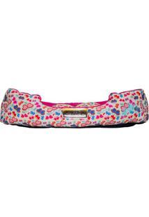 Cama Retangular Borboletas- Pink & Branca- 17X60X50C4 Patas