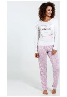 Pijama Feminino Estampa Flores Marisa