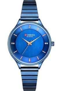 Relógio Curren Analógico C9041L Feminino - Feminino-Azul