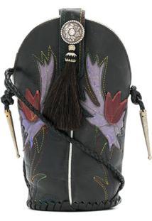 Jessie Western Mini Bucket Bag - Preto