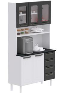 Cozinha Compacta Titanium I 5 Pt 4 Gv Cinza E Branca