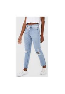 Calça Jeans Aeropostale Boyfriend Destroyed Azul