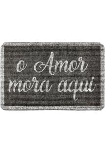 Capacho Carpet O Amor Mora Cinza Único Love Decor