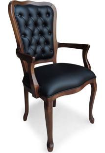Cadeira Com Braço Inglesa Madeira Maciça Design Clássico Peça Artesanal