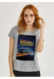 Camiseta Bandup! Back To The Future Delorean - Feminino