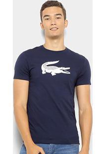 Camiseta Lacoste Logo Masculina - Masculino-Marinho
