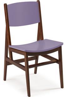 Cadeira Dumon 87 Cm 951 Cacau/Lilás - Maxima