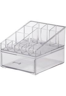 Kit Organizador Cosméticos 18,5X16,5X14,5Cm - Paramount - Cristal