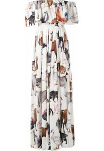 Dolce & Gabbana Vestido Longo Estampado