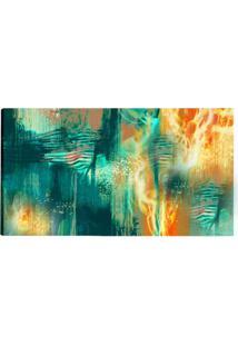 Quadro Abstrato Azul E Amarelo 55X100Cm