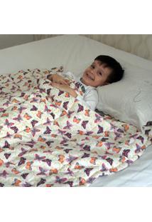 Cobertor Ponderado Artesanal Borboletas - Pequeno - 1,5 M X 1,4 M