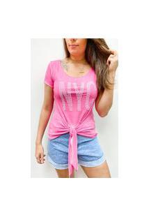Camiseta Pedraria New York - Rosa