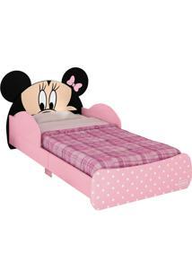 Mini-Cama Minnie Disney C/Dorsel De Teto Rosa E Preto Pura Magia