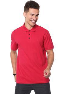 Camisa Polo John John Reta Básica Vermelha