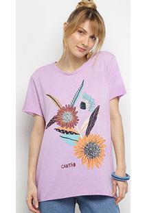 Camiseta Cantão Flores Vintage Feminina - Feminino