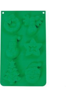 Forma De Natal 6 Formatos Silicone Verde