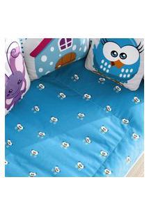Edredom Infantil Galinha Pintadinha Olhos Azul Gráo De Gente Azul