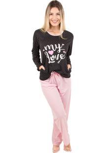 Pijama Bella Fiore Modas Em Poá Poliane Rosa