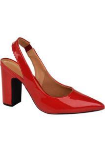 Scarpin Chanel Vizzano Feminina - Feminino-Vermelho