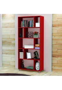 Estante Para Livros Esm 212 Vermelho - Móvel Bento
