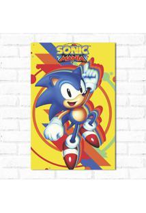 Placa Decorativa Sonic 1